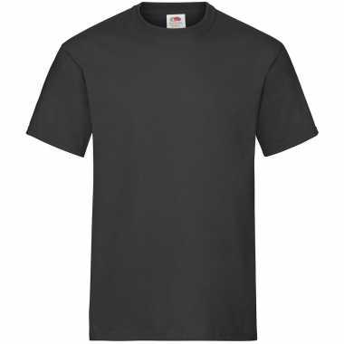 3-pack maat 2xl - zwarte t-shirts ronde hals 195 gr heavy t voor her