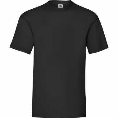 5-pack maat s - zwarte t-shirts ronde hals 165 gr valueweight voor h
