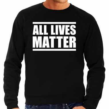 All lives matter demonstratie / protest sweater zwart voor heren t-s