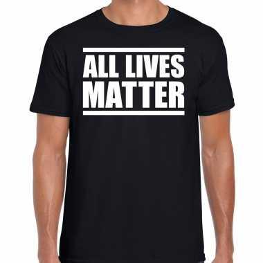 All lives matter demonstratie / protest t-shirt zwart voor heren