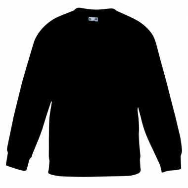Basis zwarte truien/sweaters meisjeskleding t-shirt
