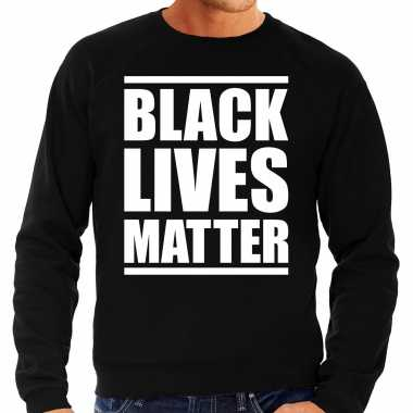 Black lives matter demonstratie / protest sweater zwart voor heren t