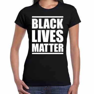 Black lives matter demonstratie / protest t-shirt zwart voor dames