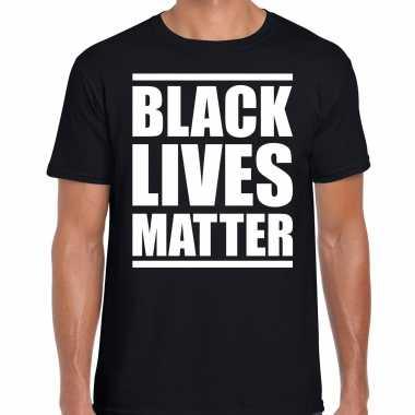 Black lives matter demonstratie / protest t-shirt zwart voor heren