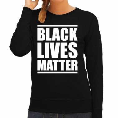 Black lives matter demonstratie / protest weater zwart voor dames t-