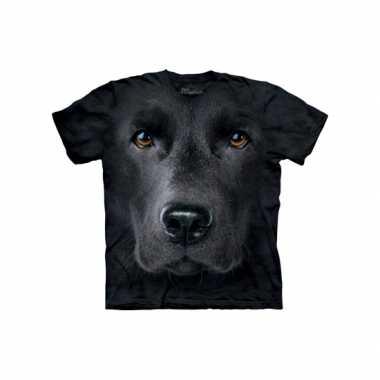 Dieren shirts labrador zwart kids t-shirt