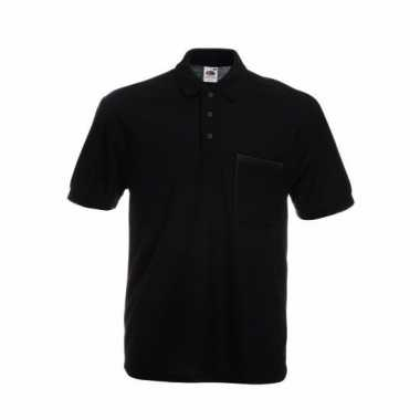 Horecakleding zwart poloshirt korte mouw t-shirt