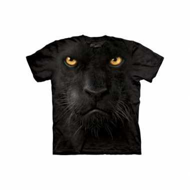 Kids dieren shirts zwarte panter t-shirt