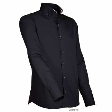 Luxe overhemd zwart giovanni capraro t-shirt