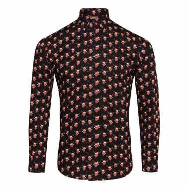 Net rendier overhemd voor heren zwart t-shirt