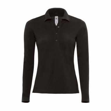 Poloshirt voor dames in de kleur zwart t-shirt