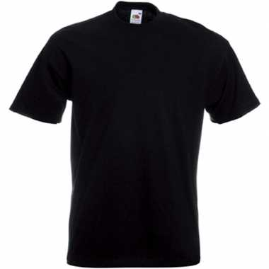 Set van 3x stuks grote maten zwarte t-shirts met korte mouwen voor heren, maat: 4xl (48/60)
