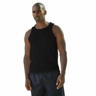 Sportief singlet voor heren zwart t-shirt