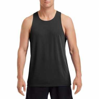 Sportief singlet zwart voor mannen t-shirt