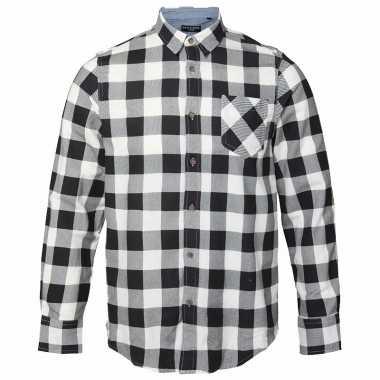 T Shirt Overhemd.Trucker Overhemd Geblokt Wit Zwart T Shirt Zwart T Shirt Nl