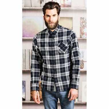 Geblokt Overhemd.Trucker Overhemd Geblokt Zwart T Shirt Zwart T Shirt Nl