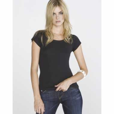 Zwart bella shirt voor dames t-shirt