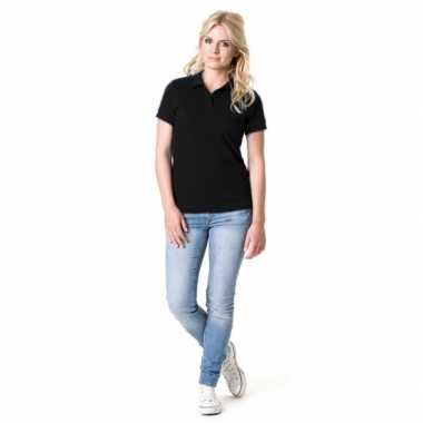 Zwart dames poloshirts t-shirt