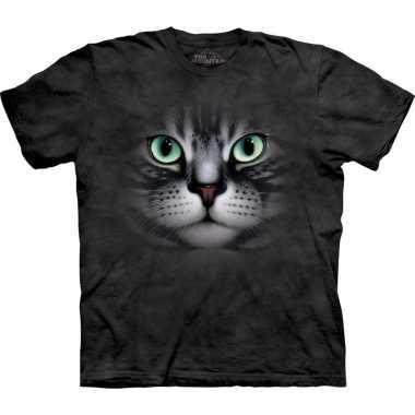 Zwart dieren shirts cyperse kat voor volwassenen t-shirt