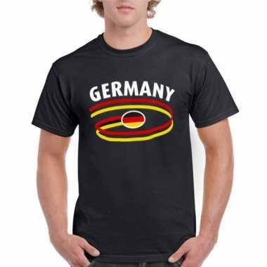 Zwart duits heren shirt t-shirt