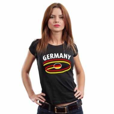 Zwart duits shirt germany voor dames t-shirt