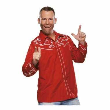 Zwart rood oktoberfest overhemd voor heren t-shirt