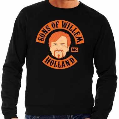 Zwart sons of willem sweater heren t-shirt