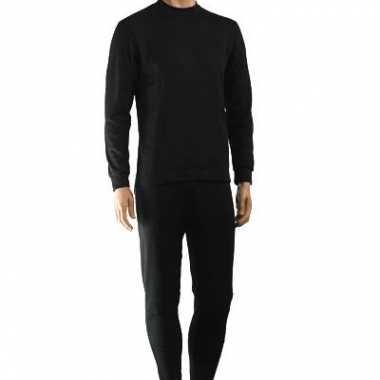 Zwart thermo ondergoed set heren t-shirt