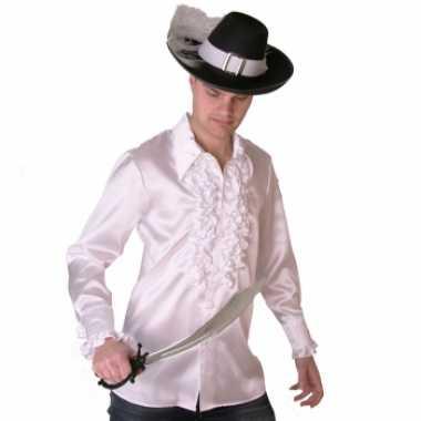 Zwart wit piraten shirt voor heren t-shirt