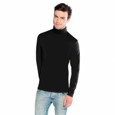 Zwarte colshirt voor heren t-shirt