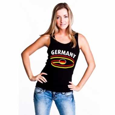 Zwarte dames shirtje met germany print t-shirt
