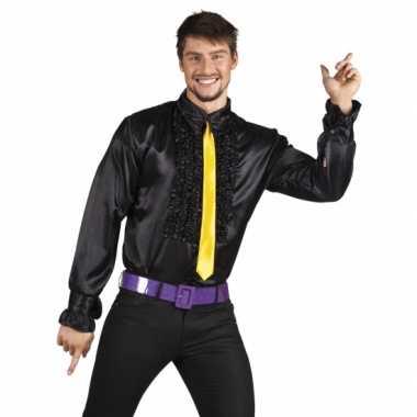 Zwarte disco blouse voor heren t-shirt