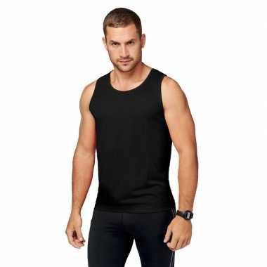 Zwarte hardloop tanktop voor heren t-shirt