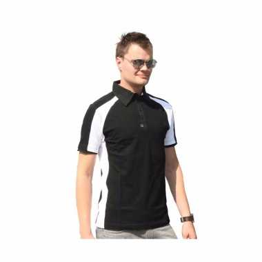 Zwarte polo shirts voor heren lemon&soda t-shirt