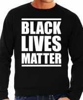 Black lives matter demonstratie protest sweater zwart voor heren shirt