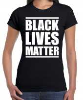 Black lives matter demonstratie protest t shirt zwart voor dames