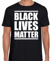 Black lives matter demonstratie protest t shirt zwart voor heren