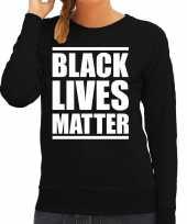 Black lives matter demonstratie protest weater zwart voor dames shirt