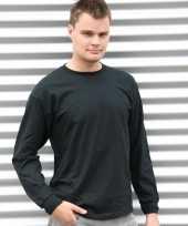 Gildan t shirt lange mouwen zwart