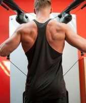 Heren bodybuilders shirt zwart