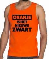 Oranje koningsdag oranje is het nieuwe zwart tanktop heren shirt