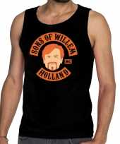 Zwart sons of willem tanktop mouwloos shirt heren